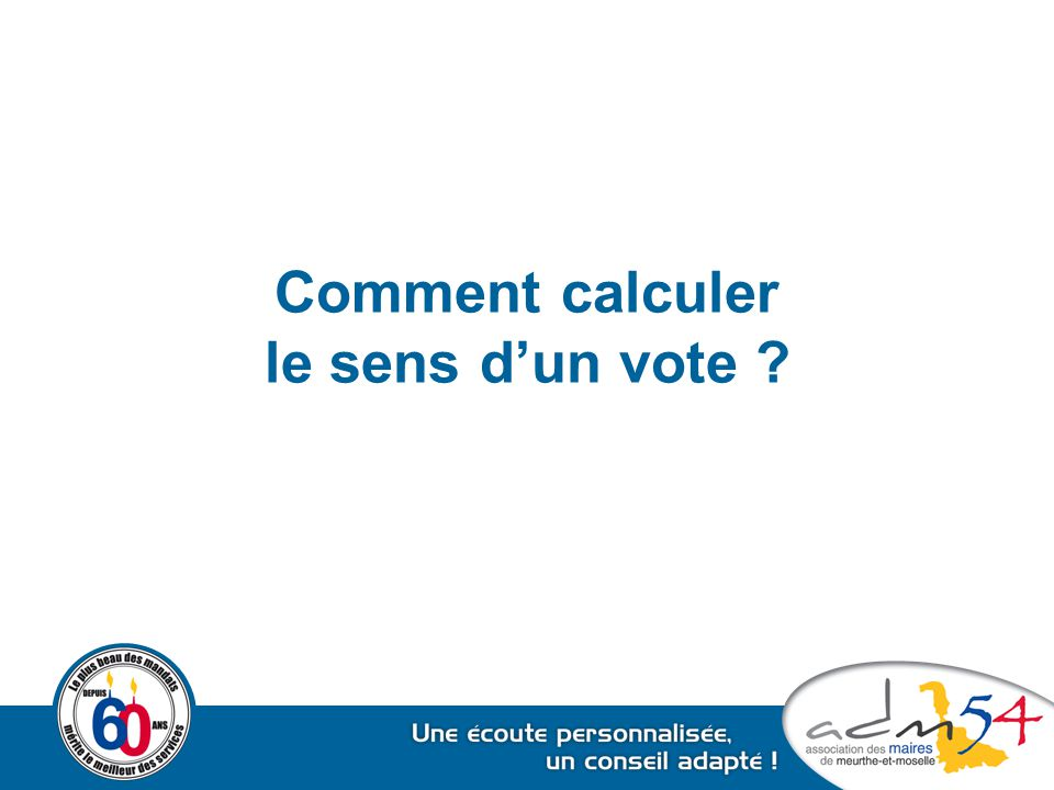 Comment calculer le sens d'un vote