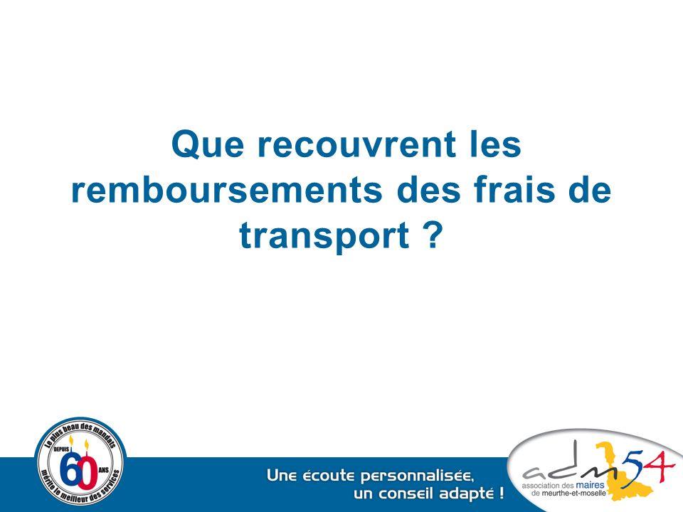 Que recouvrent les remboursements des frais de transport