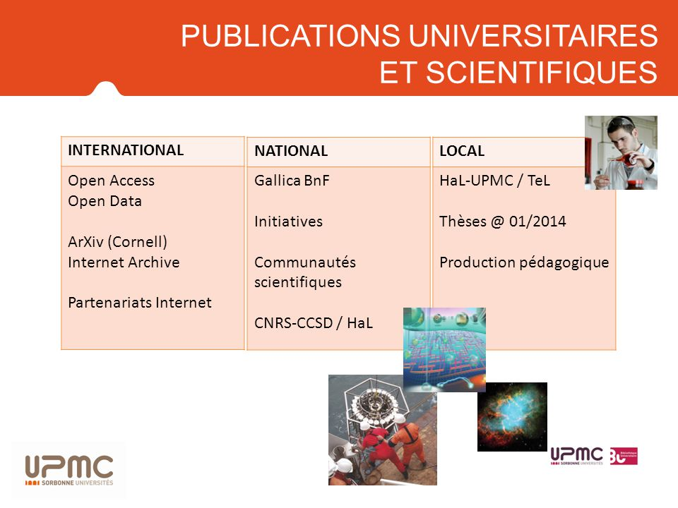 PUBLICATIONS UNIVERSITAIRES ET SCIENTIFIQUES