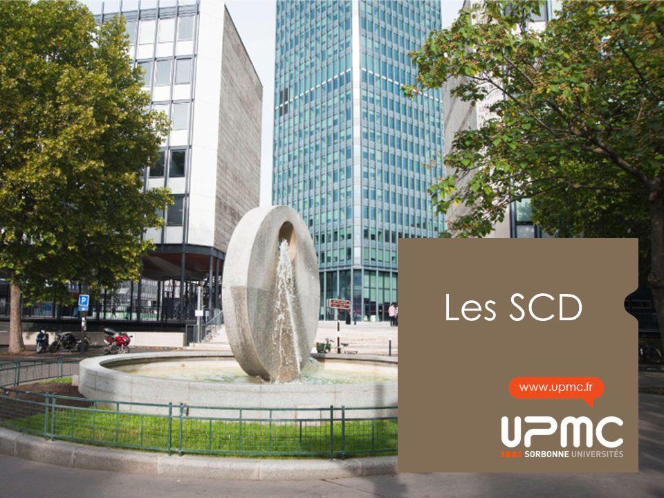 Les SCD La BUPMC, un exemple pour observer le fonctionnement des Services Communs de la.