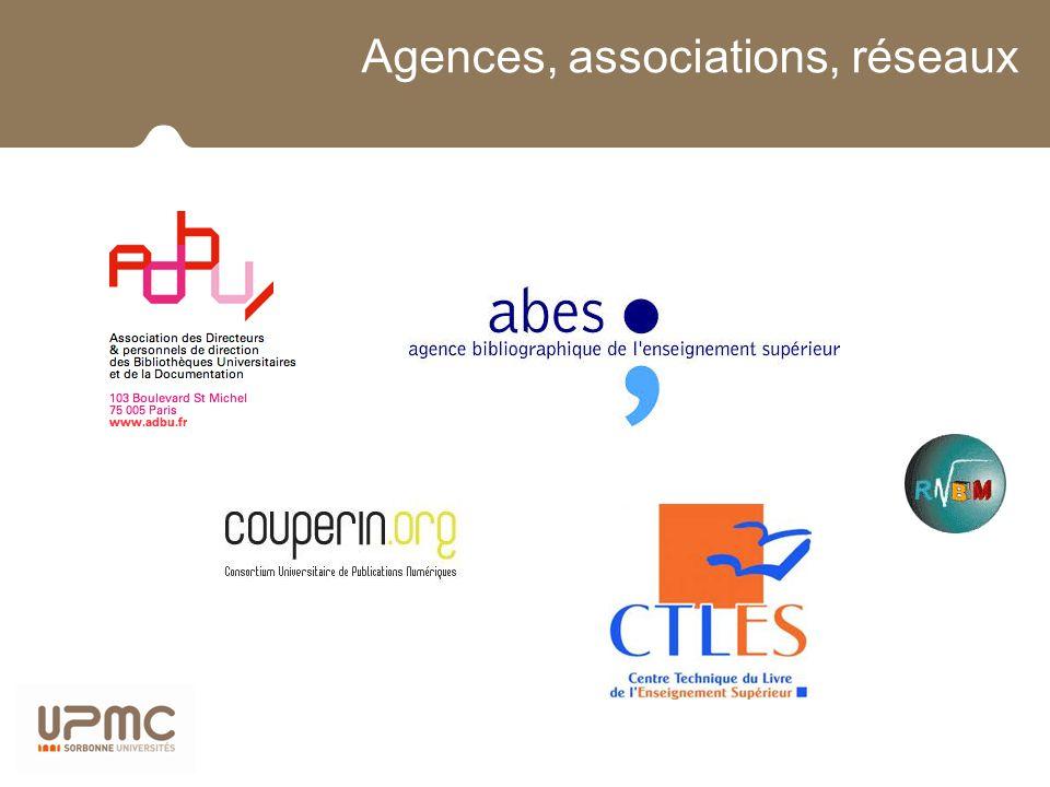 Agences, associations, réseaux