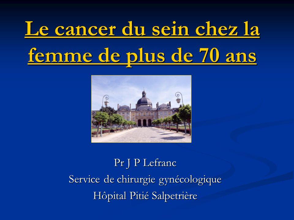Le cancer du sein chez la femme de plus de 70 ans