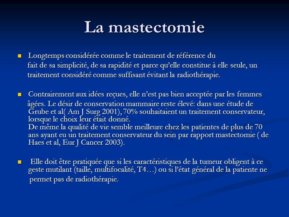 La mastectomie Longtemps considérée comme le traitement de référence du.
