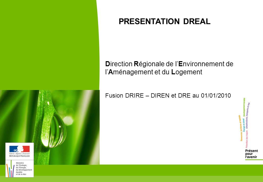 toitototototoot PRESENTATION DREAL. Direction Régionale de l'Environnement de l'Aménagement et du Logement.