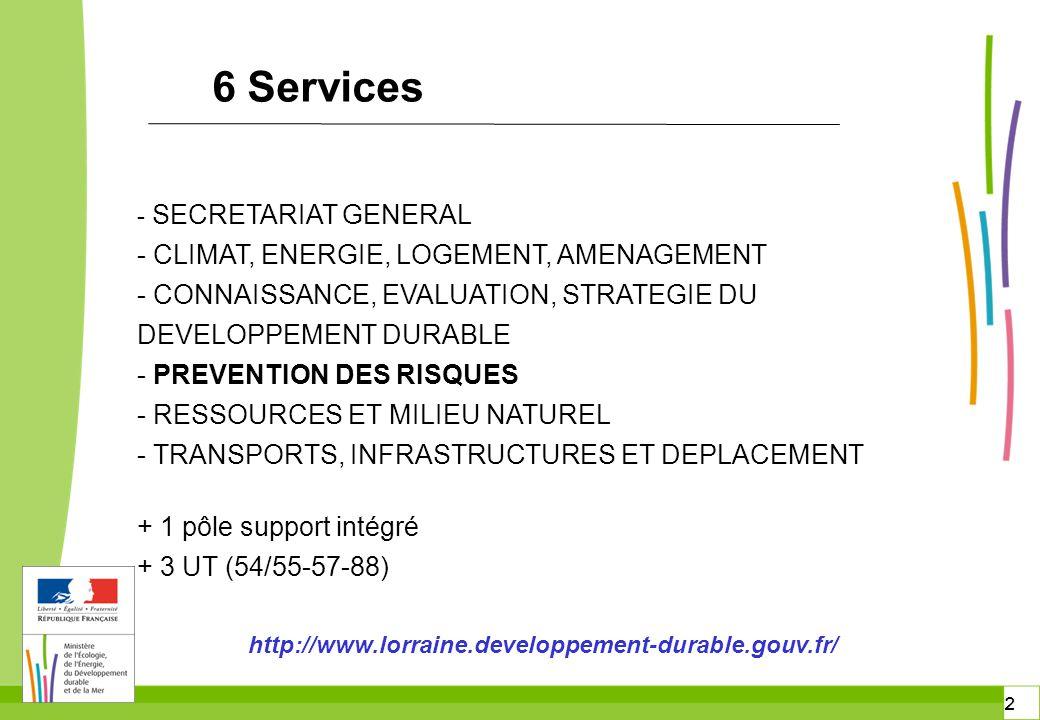 6 Services - CLIMAT, ENERGIE, LOGEMENT, AMENAGEMENT