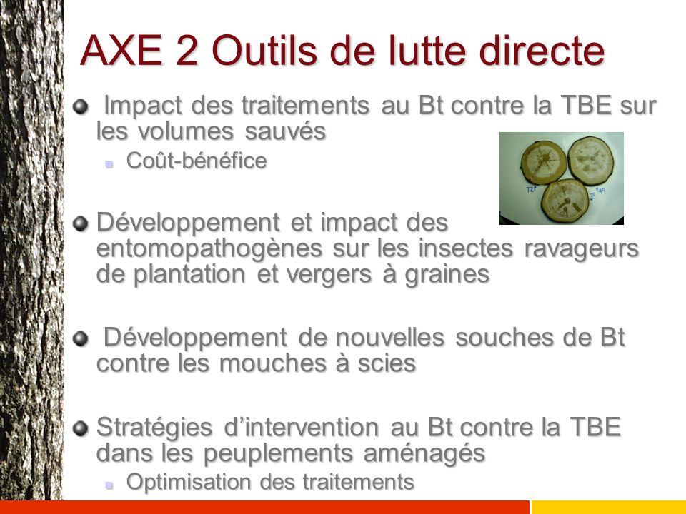 AXE 2 Outils de lutte directe