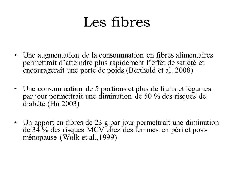Les fibres