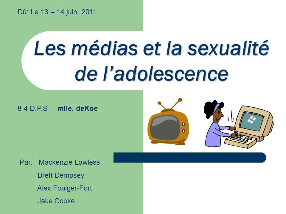 Les médias et la sexualité de l'adolescence