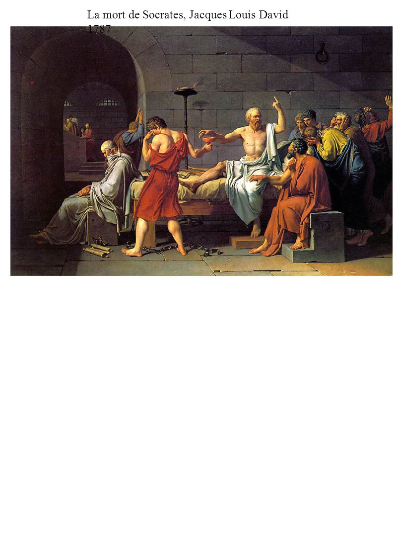 La mort de Socrates, Jacques Louis David 1787