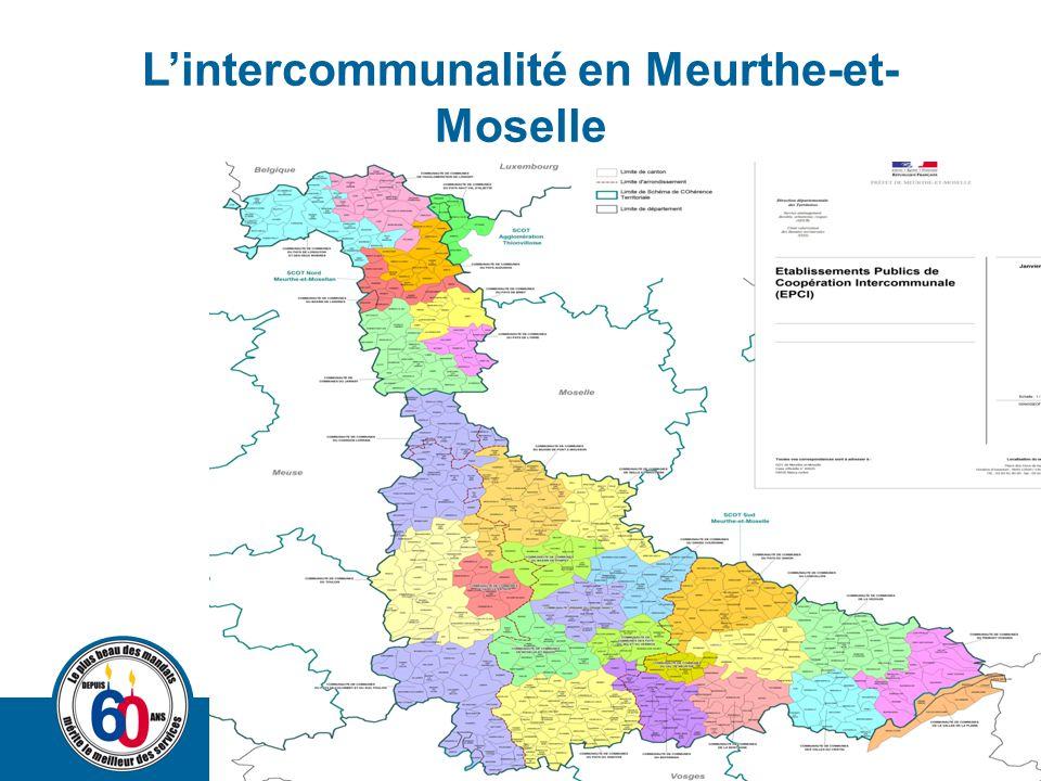 L'intercommunalité en Meurthe-et-Moselle