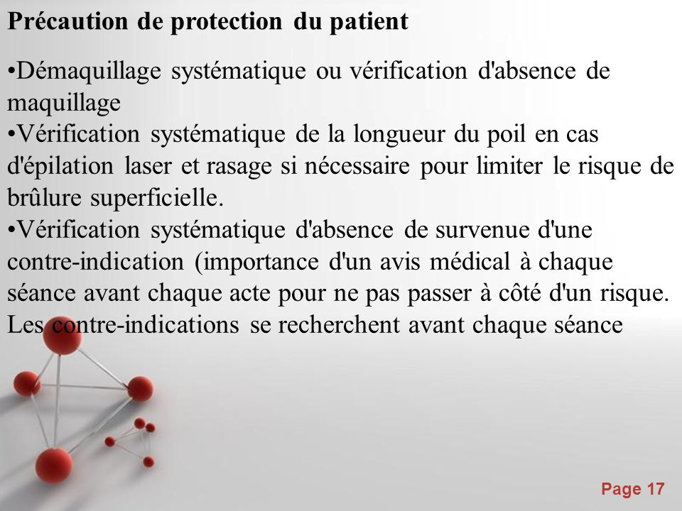 Précaution de protection du patient