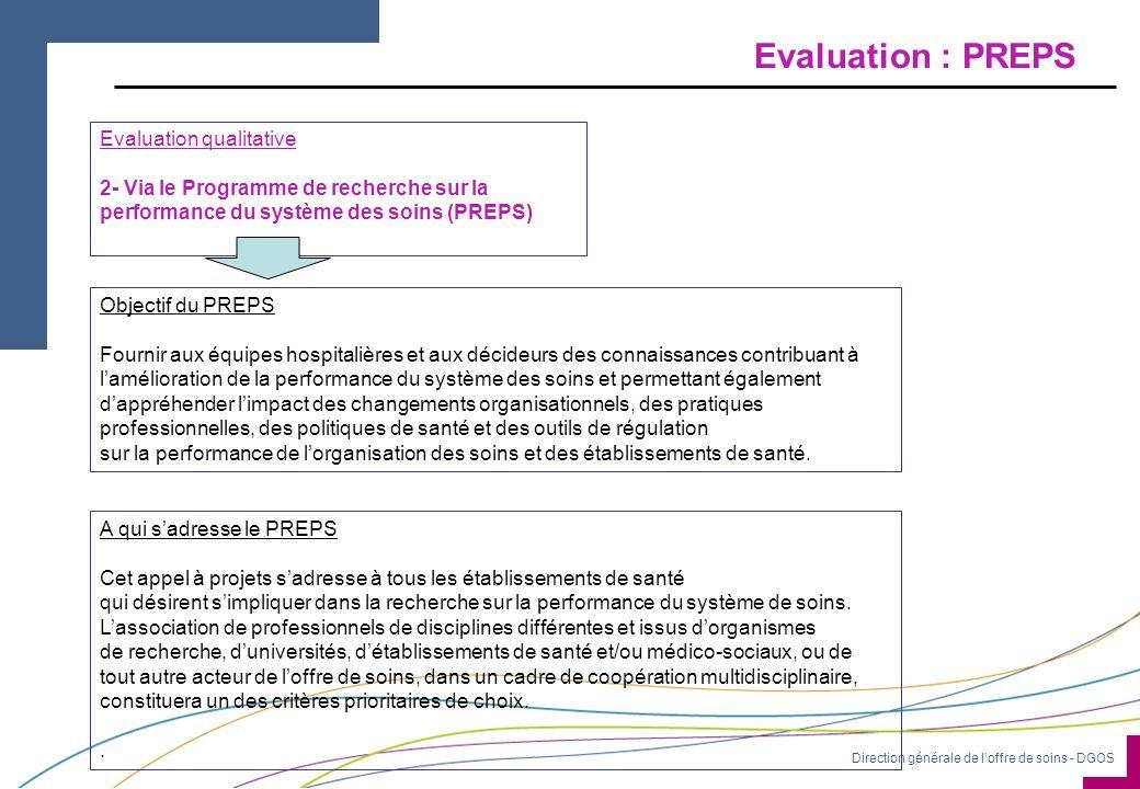 Evaluation : PREPS Evaluation qualitative