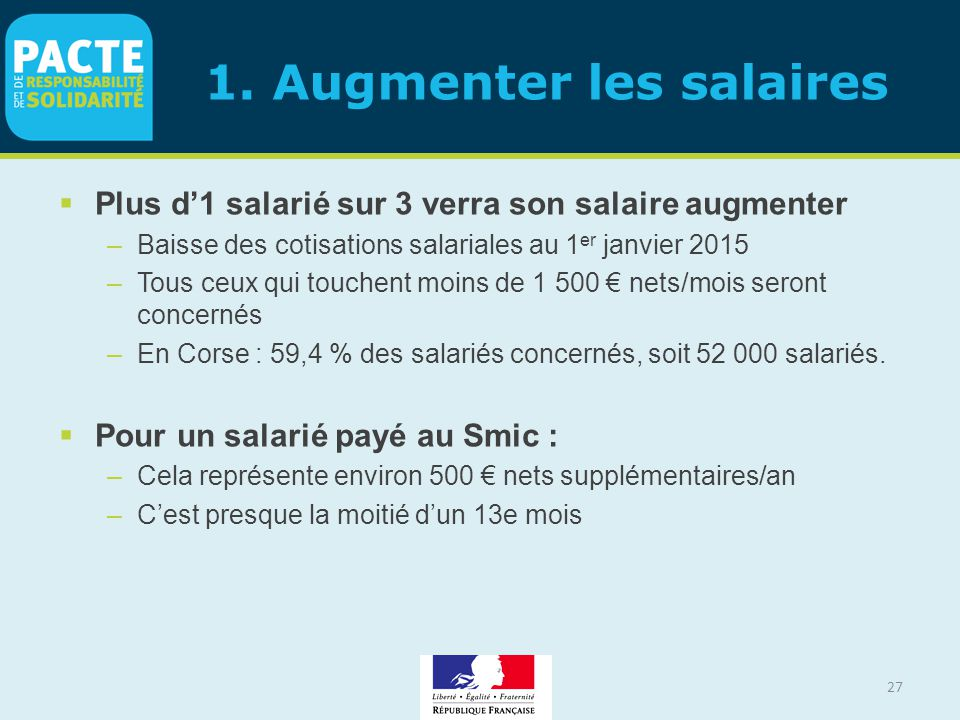 1. Augmenter les salaires