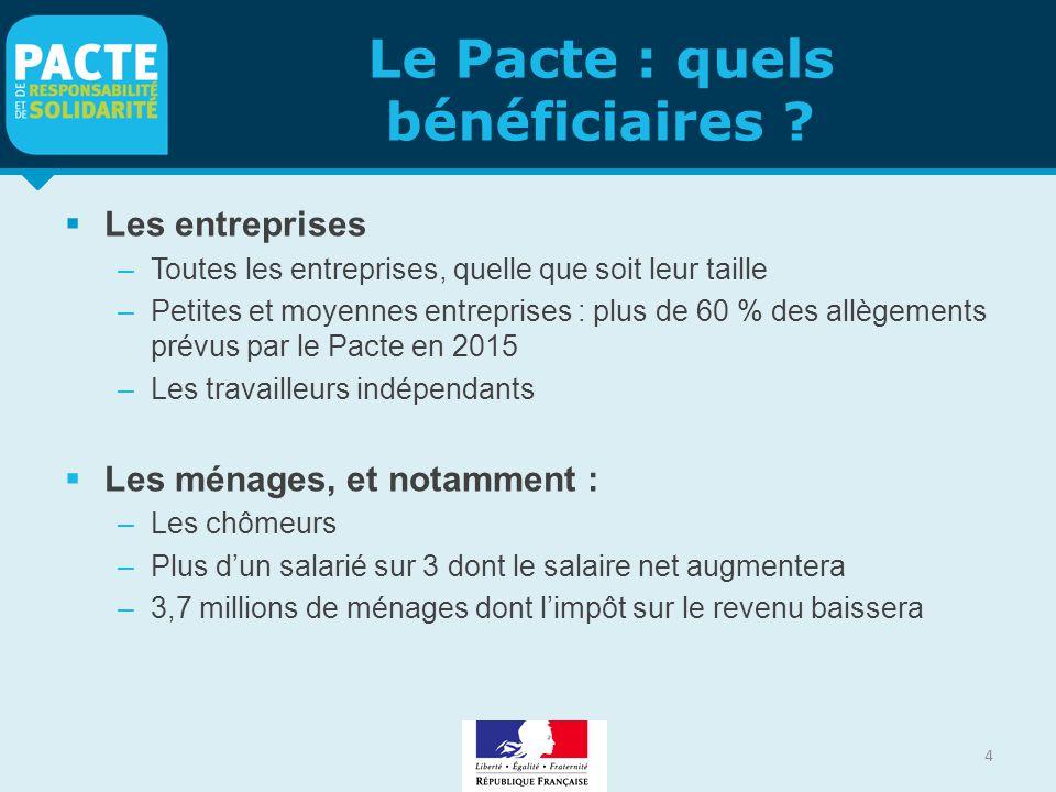 Le Pacte : quels bénéficiaires