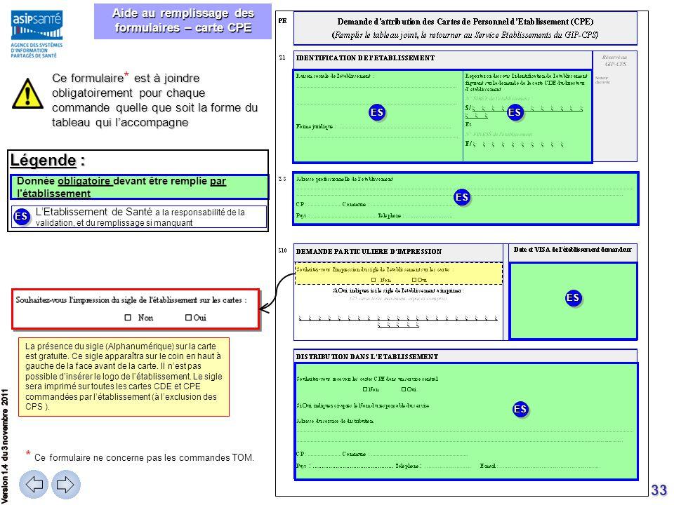 Aide au remplissage des formulaires – carte CPE