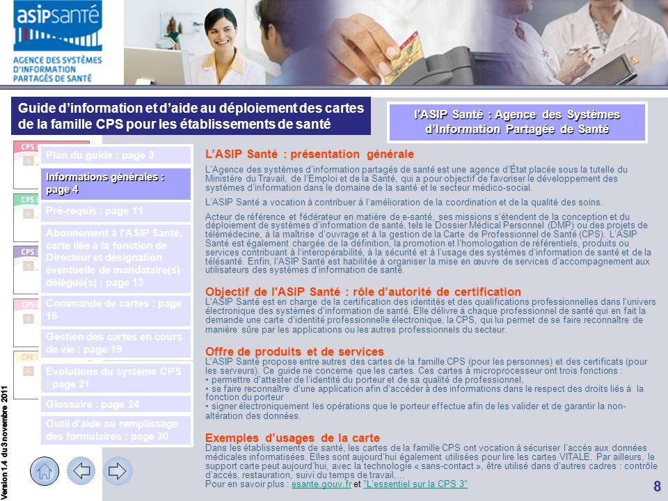 l ASIP Santé : Agence des Systèmes d'Information Partagée de Santé