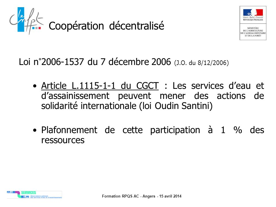 Formation RPQS AC - Angers - 15 avril 2014