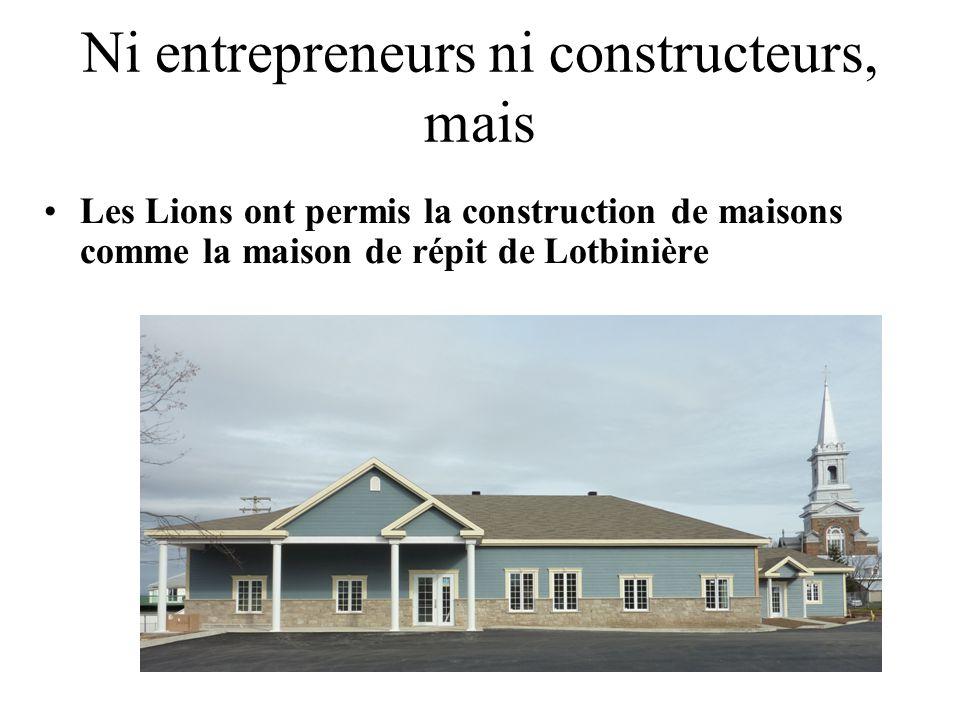 Ni entrepreneurs ni constructeurs, mais