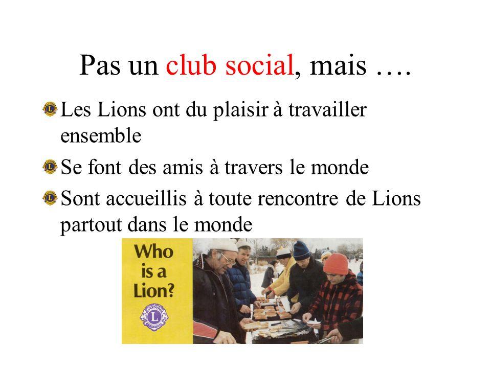 Pas un club social, mais ….