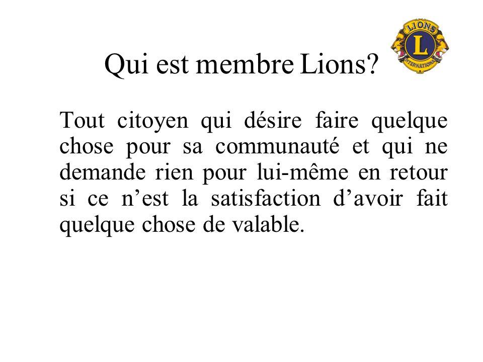 Qui est membre Lions
