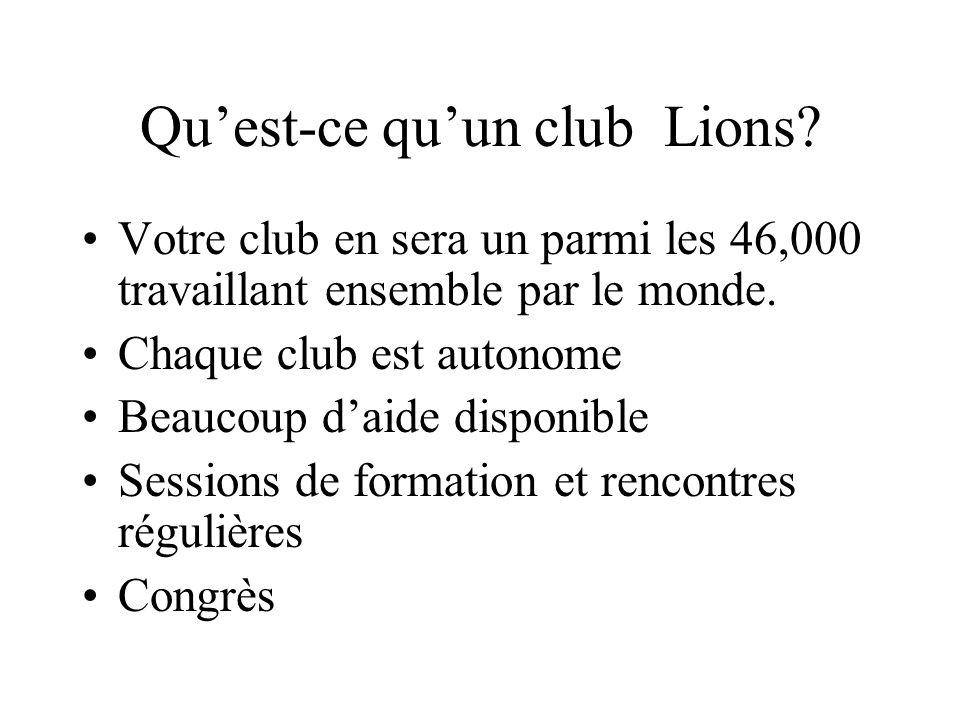 Qu'est-ce qu'un club Lions
