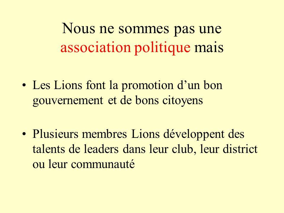 Nous ne sommes pas une association politique mais
