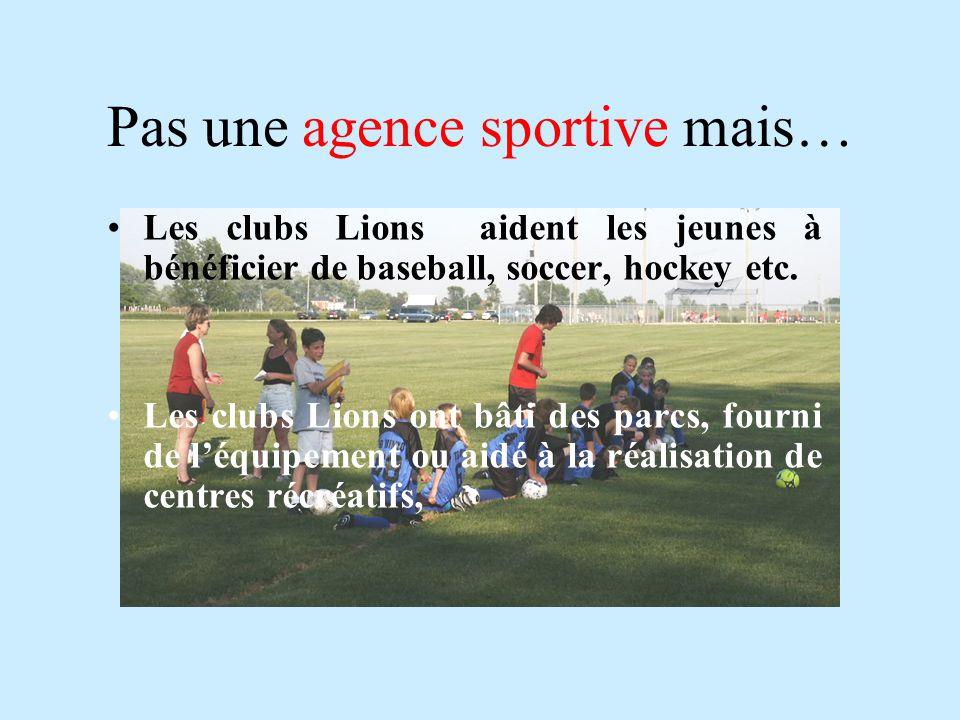 Pas une agence sportive mais…