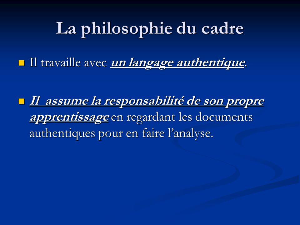 La philosophie du cadre
