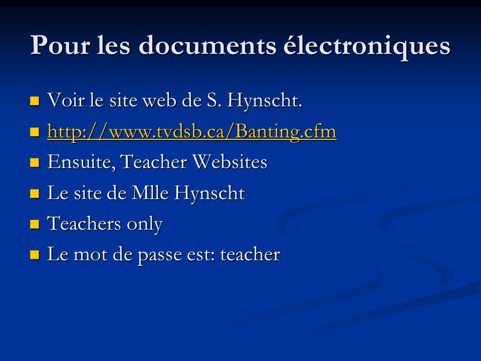 Pour les documents électroniques