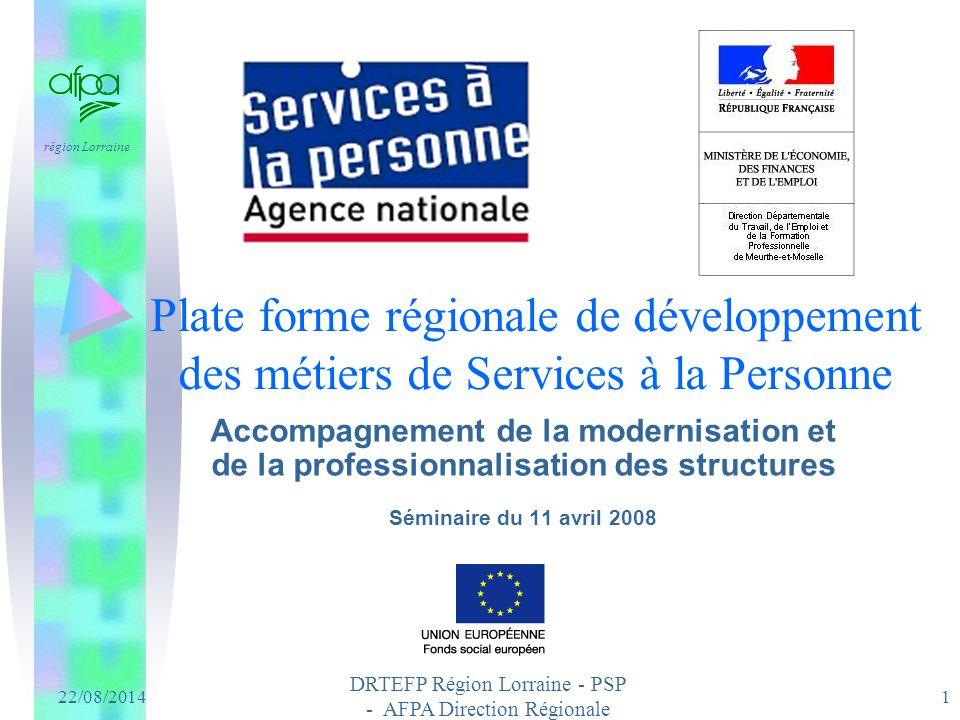 DRTEFP Région Lorraine - PSP - AFPA Direction Régionale