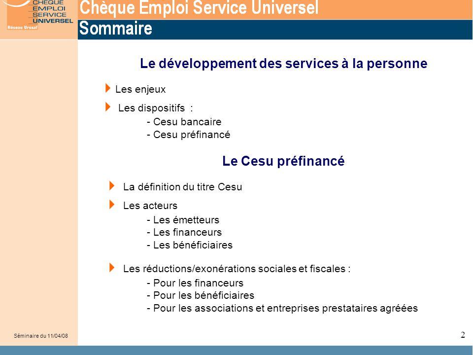 Le développement des services à la personne