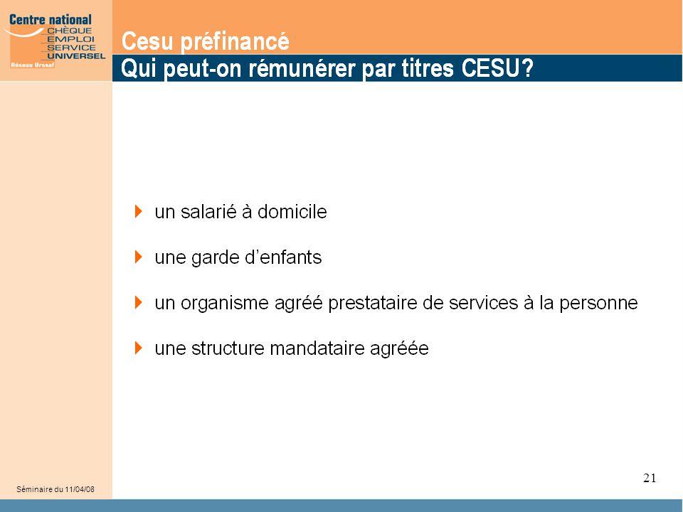 21 Les titres Cesu peuvent être utilisé pour rémunérer :