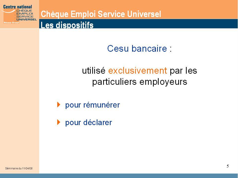5 Le CESU est utilisé par les particuliers employeurs pour :
