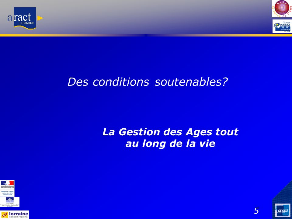 Des conditions soutenables