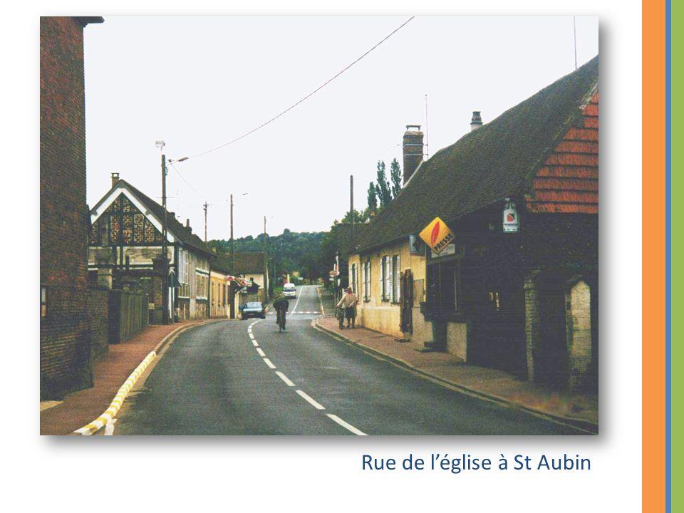 Rue de l'église à St Aubin