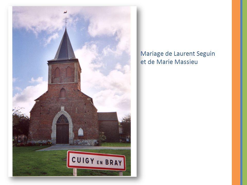 Mariage de Laurent Seguin et de Marie Massieu