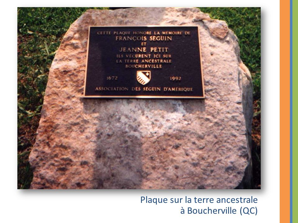 Plaque sur la terre ancestrale à Boucherville (QC)