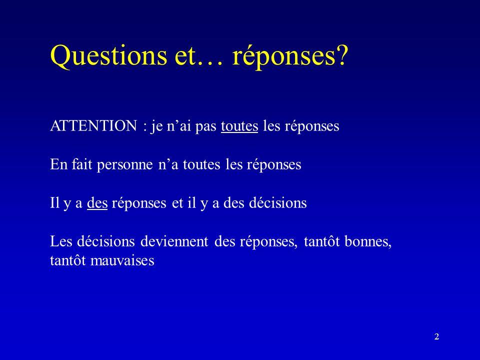 Questions et… réponses