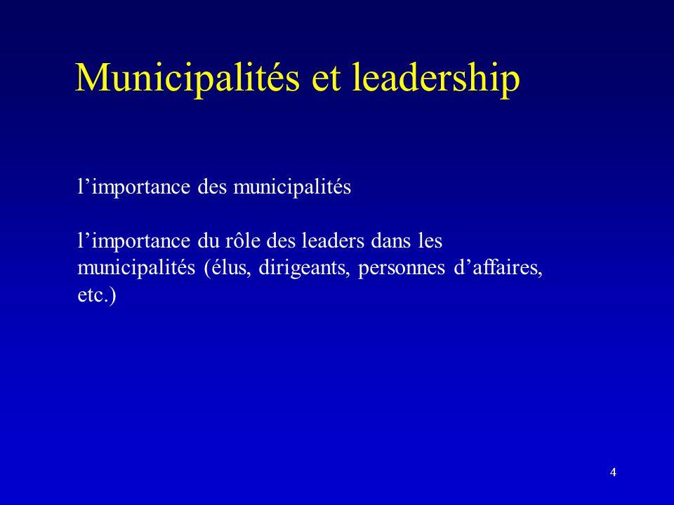 Municipalités et leadership