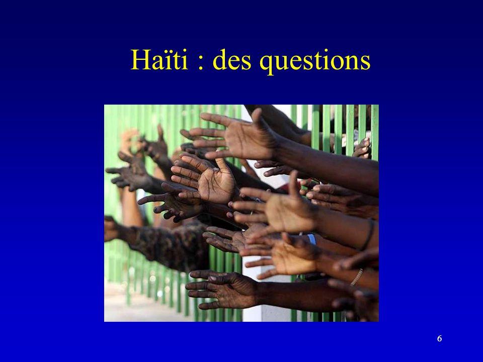 Haïti : des questions