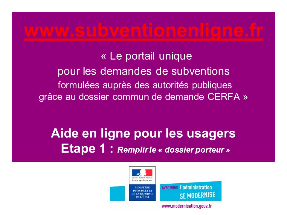 www. subventionenligne