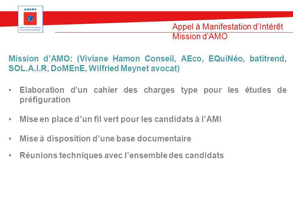 Appel à Manifestation d'Intérêt Mission d'AMO