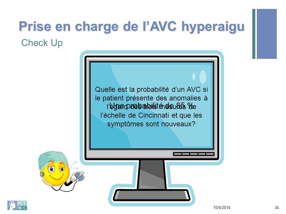 Prise en charge de l'AVC hyperaigu