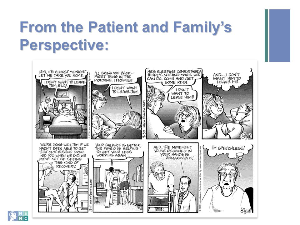 From the Patient and Family's Perspective: