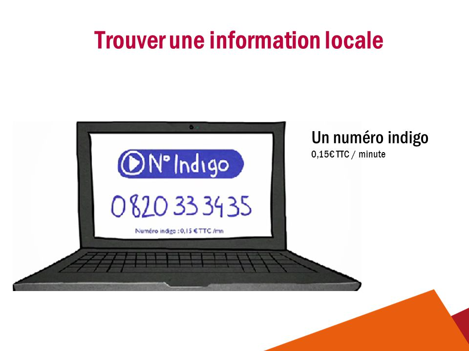 Trouver une information locale
