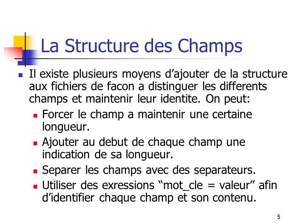 La Structure des Champs