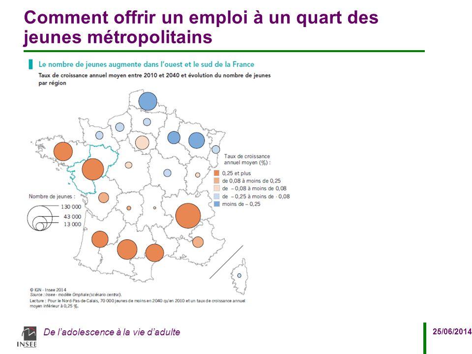 Comment offrir un emploi à un quart des jeunes métropolitains
