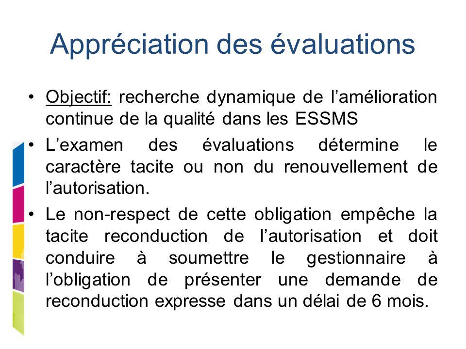 Appréciation des évaluations