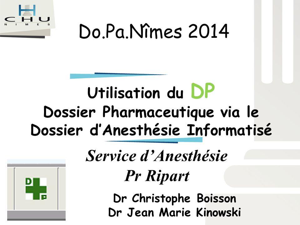 Service d'Anesthésie Pr Ripart