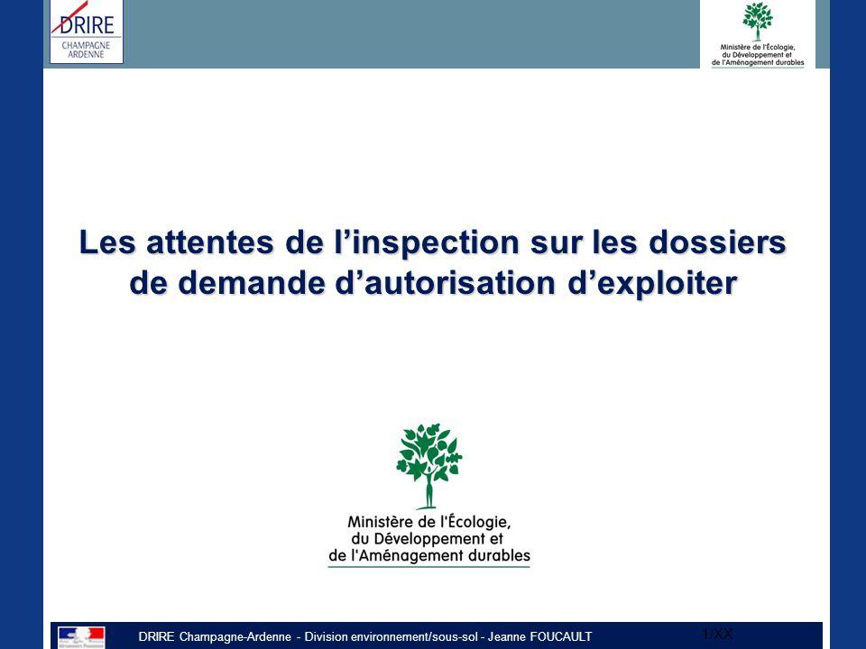 Les attentes de l'inspection sur les dossiers de demande d'autorisation d'exploiter